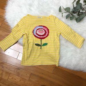 Mini Boden yellow long sleeve flower shirt